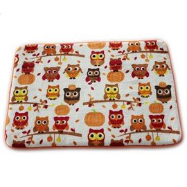 Lovely Owl Printed Memory Foam Bath Mat 20 X 30cm Size Eco - Friendly Stocked Anti Slip